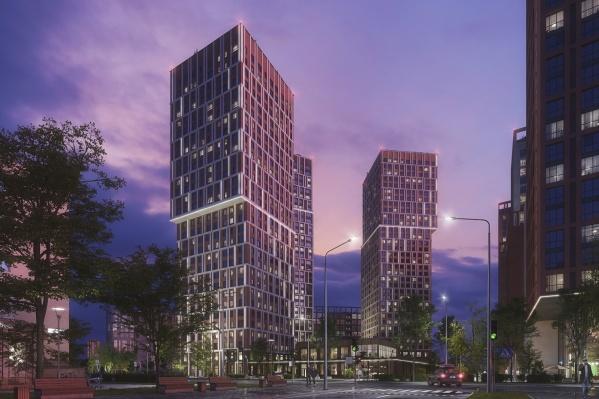 Новый дом будет самым высоким в первой очереди строительства — 33 этажа. Первые два — 30 и 32