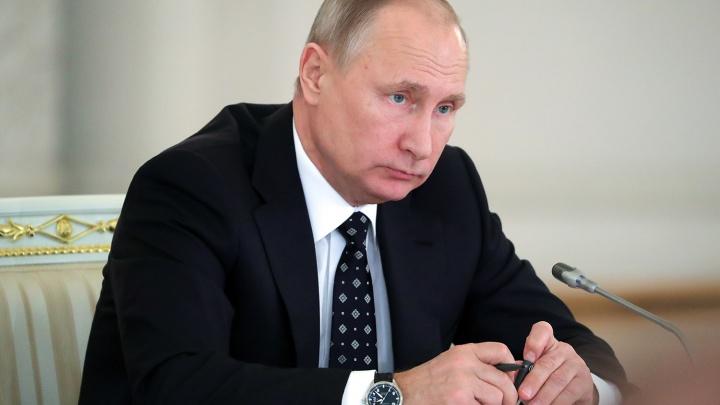 Владимир Путин прилетел в Кемерово