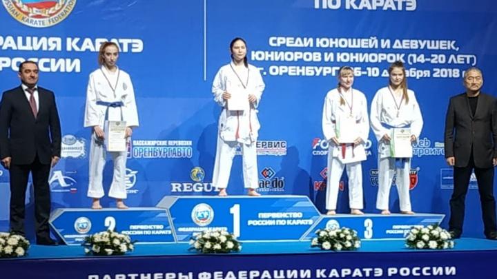 Два парня и девушка из Свердловской области стали призерами первенства России по карате