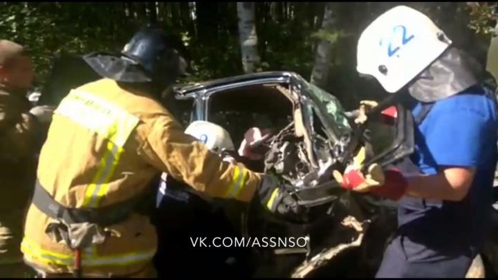 Вылетел на встречку под грузовик: водителя Honda зажало в салоне после аварии около Пашино
