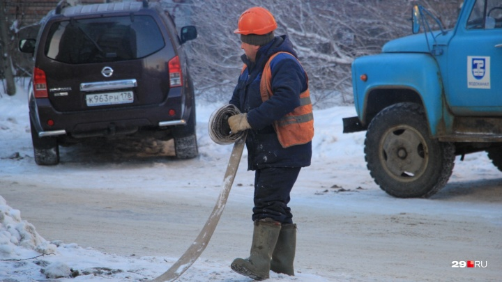 В понедельник без воды, тепла и света остались жители двух десятков домов в Архангельске
