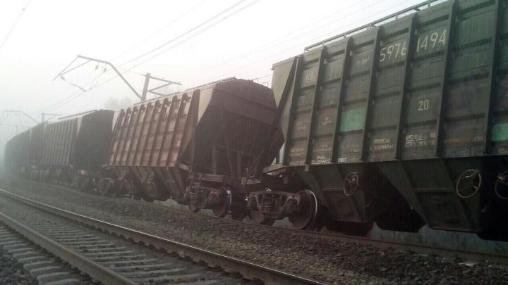 В Пермском крае из-за сильных дождей размыло ж.-д. полотно: два вагона опрокинулись