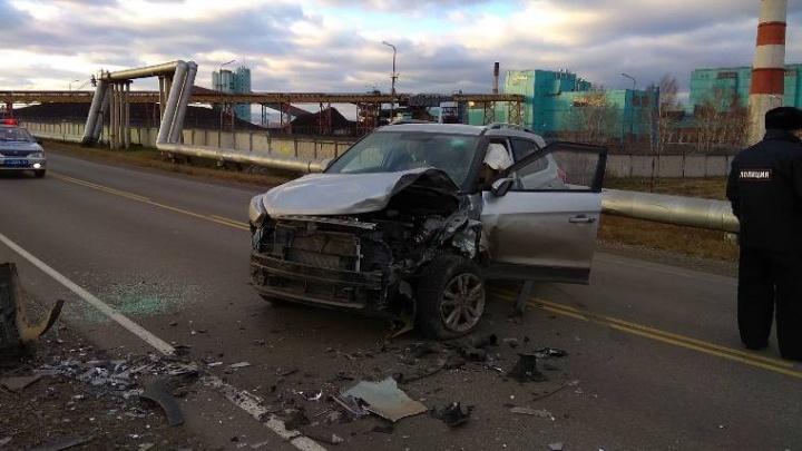 Годовалый малыш пострадал в лобовой аварии на трассе Шарыпово — Дубинино