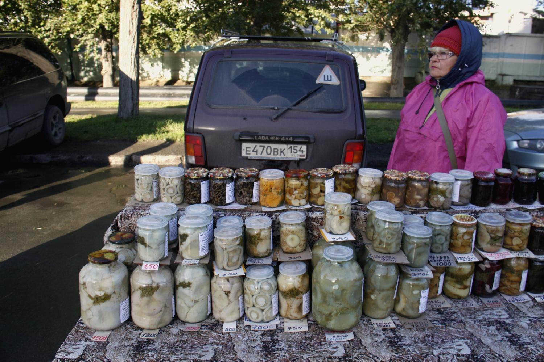 Точка по продаже соленых и маринованных грибов
