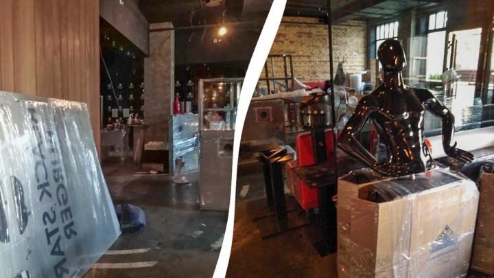 Black Star Burger — всё! Из кафе в центре Уфы вывозят оборудование и мебель