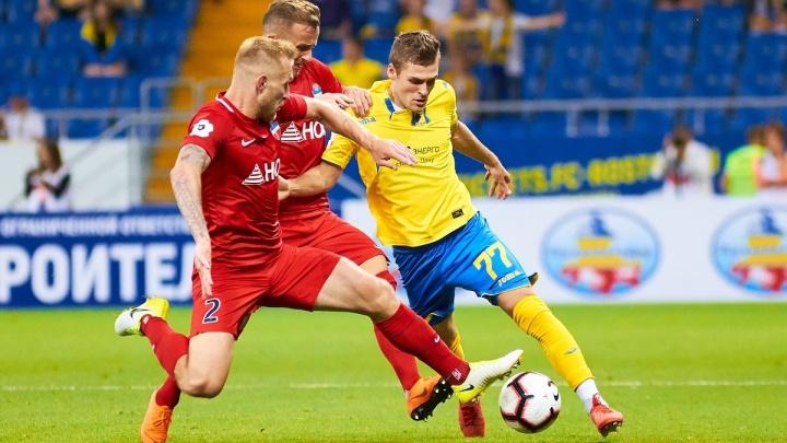 После разгромного поражения от «Ростова» ФК «Енисей» оказался на последнем месте в премьер-лиге