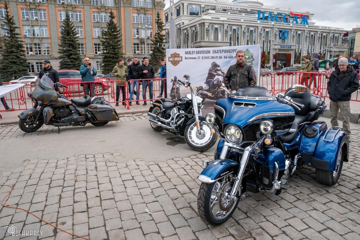 В фестивале приняли участие и мотоциклы
