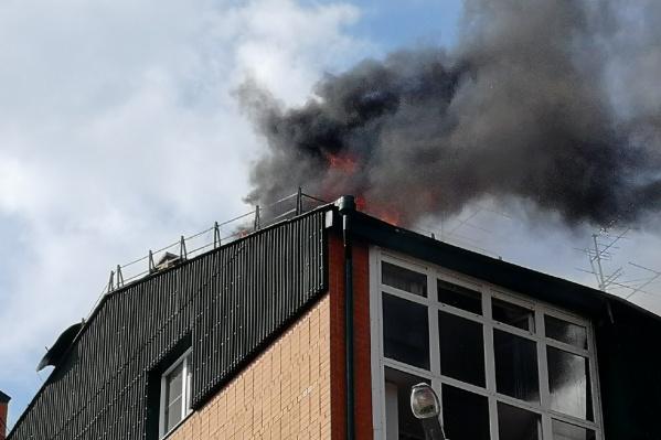 На месте ЧП работают несколько десятков пожарных машин
