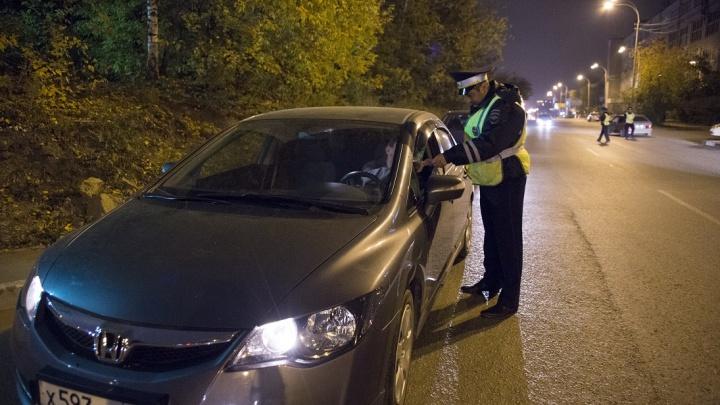 За два выходных дня свердловские сотрудники ГИБДД поймали 162 пьяных водителя