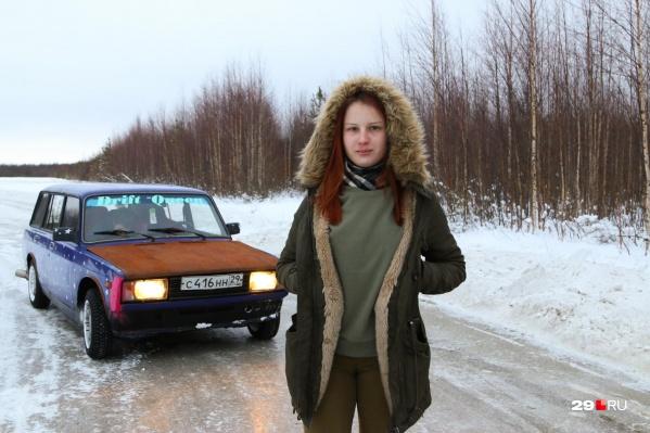 Юлия, как и многие архангельские дрифтеры, предпочитает выходить на трассу зимой