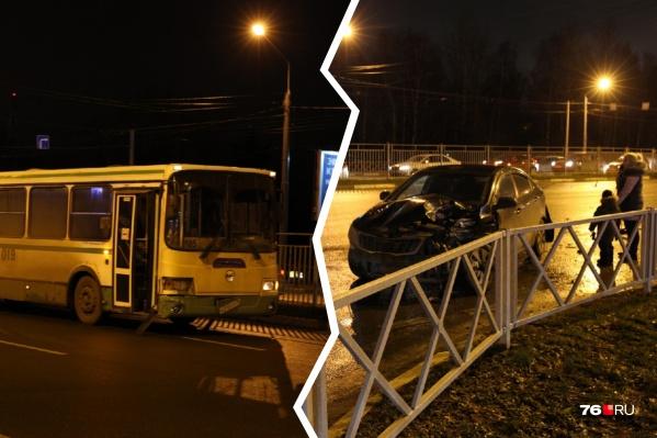 ДТП произошло на Московском проспекте в районе пересечения с улицей Павлова