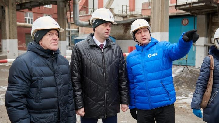 На Красноярской ТЭЦ-1 завершилось строительство новой дымовой трубы