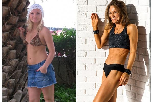 Сложно поверить, но это все Марина. Слева на фото ей 24 года, а справа —33
