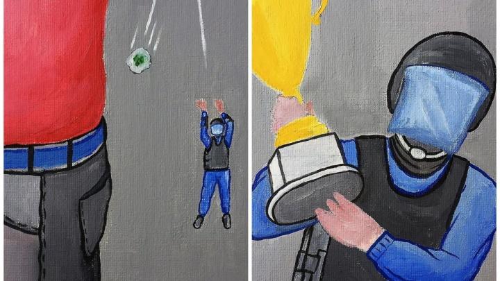 Художник из Екатеринбурга, скандаливший с Элджеем, нарисовал комикс о подброшенных наркотиках