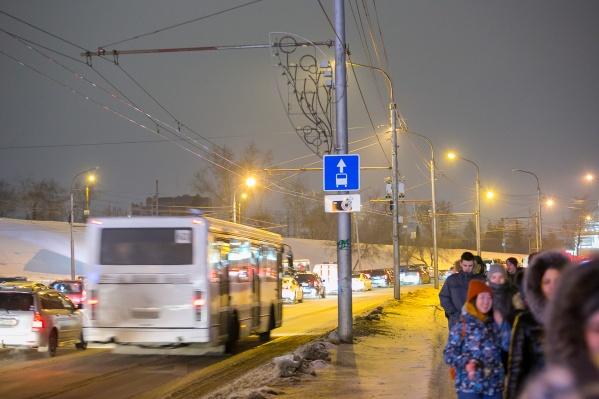 Выделенные полосы начали действовать с 26 января