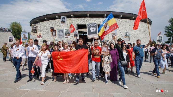 «Он сплотил всю нашу страну»: волгоградец прошёл в «Бессмертном полку» с портретом Сталина