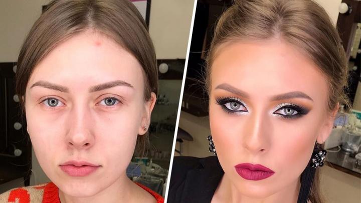 Из скромницы в секси-фрау: 10 образов самарских девушек, которых не узнать после макияжа