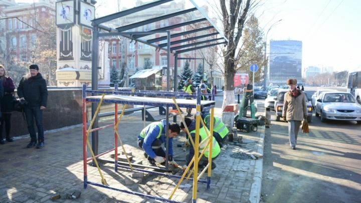 Власти Ростова пообещали установить в городе 500 новых остановочных павильонов