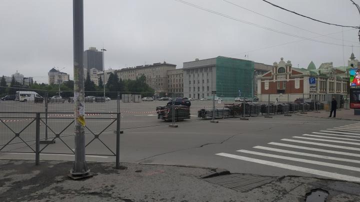 Въезд на улицу Ленина в центре перекрыли на неделю