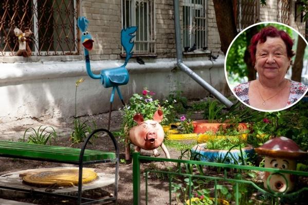 Двор многоквартирного дома на Карла Маркса напоминает волшебный сад
