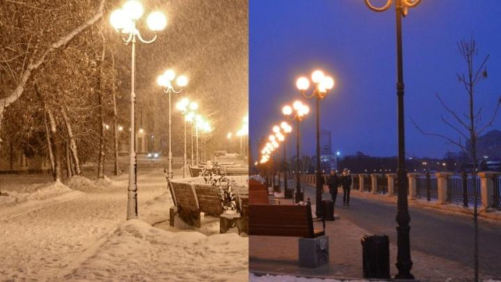 Для всех, кто скучает по снегопадам: включаем зиму в Екатеринбурге одним кликом