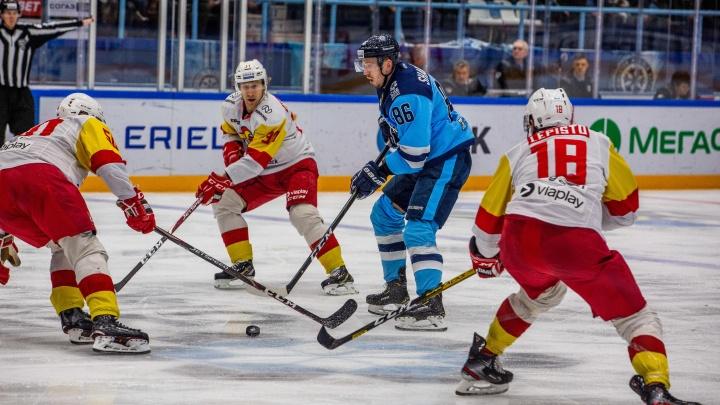 Нос к носу: ХК «Сибирь» уступила финскому «Йокериту» в домашнем матче