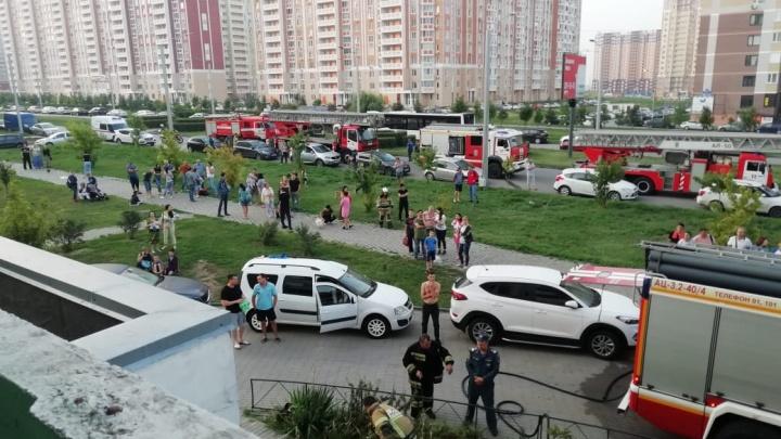 Жителей дома на улице Еременко эвакуировали из-за пожара