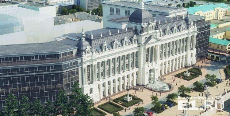 А это проект казанского дворца, который позже вынесли на Градсовет