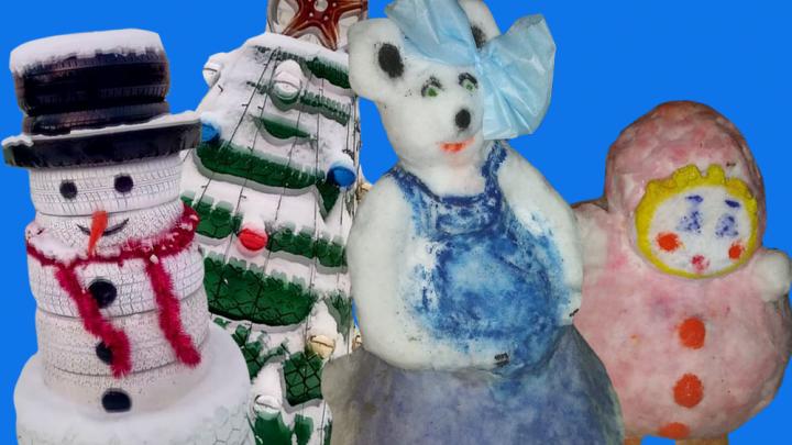 Снеговик из покрышек и беременная крыса: как украшают Башкирию к Новому году
