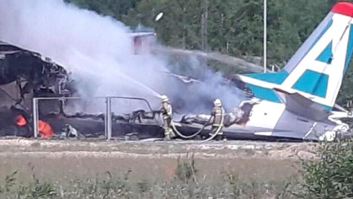 В Бурятии самолёт загорелся при посадке, два человека погибли