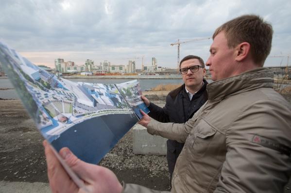 Врио губернатора Алексей Текслер посмотрел проект и попросил не затягивать с благоустройством