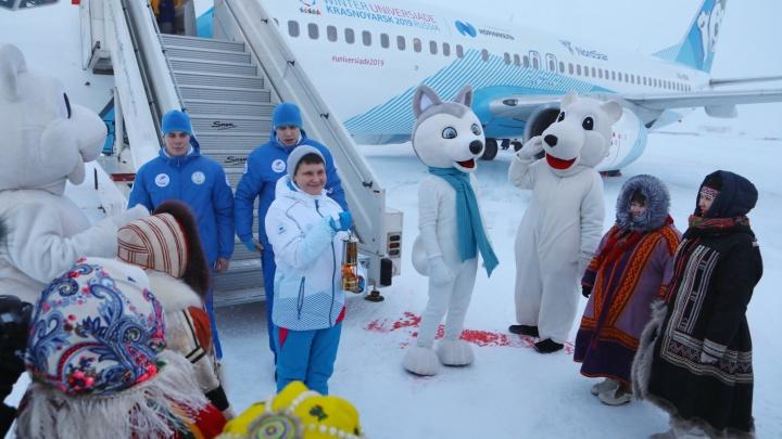 Путь огня Универсиады по Красноярскому краю: смотрим, как это было