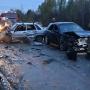 В Прикамье на трассе столкнулись Subaru и ВАЗ: пострадали пять человек