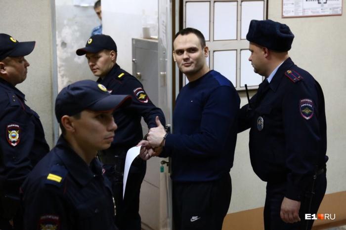 Алексей Сушко во время судебного процесса в Верх-Исетском районном суде