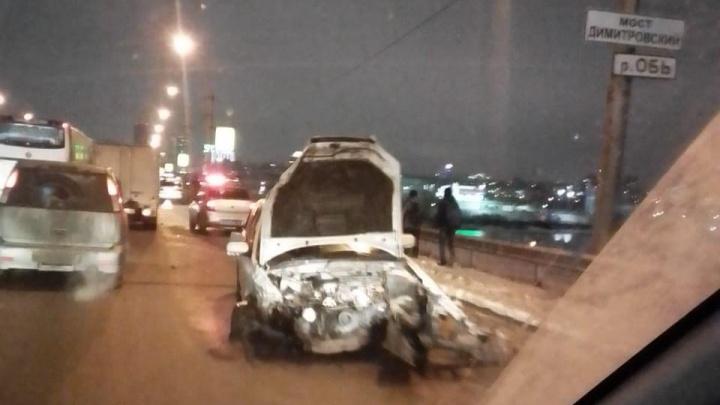 Массовое ДТП на Димитровском мосту собрало длинную пробку