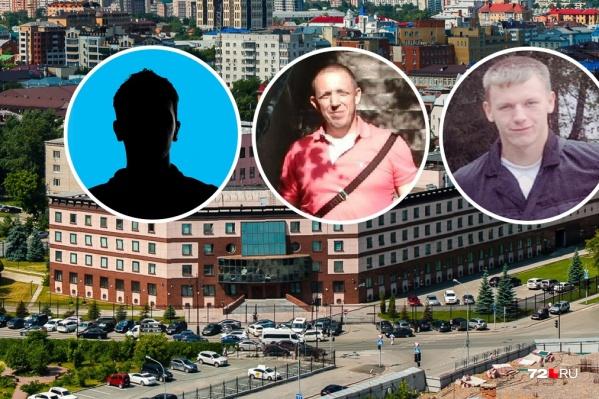 На скамье подсудимых трое: Сергей Синяков, Александр Кобылин и Евгений Гладких