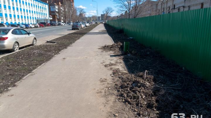 В Самаре перенесли сроки включения освещения на улице Луначарского