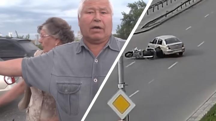 Уральского пенсионера, погубившего байкера глупым дорожным маневром, отправили в колонию-поселение