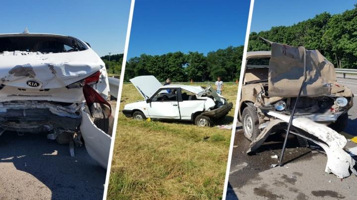 Мать с четырехлетней дочкой пострадали в ДТП на трассе М-4 «Дон»