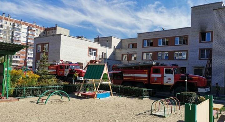Под Челябинском вспыхнул детский сад