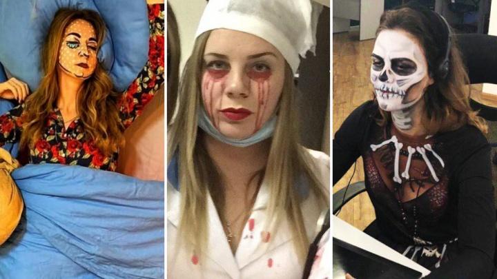 Окровавленные врачи и мертвец за компьютером: 5 самых впечатляющих фото с празднования Хеллоуина в новосибирских офисах