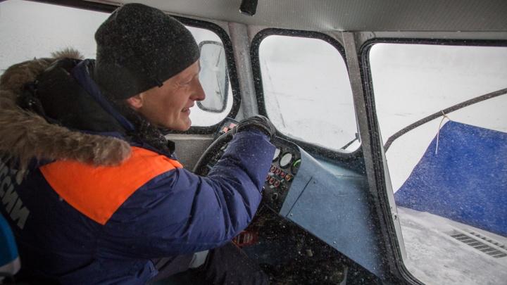 На машине по льду: в Башкирии откроют четвертую ледовую переправу