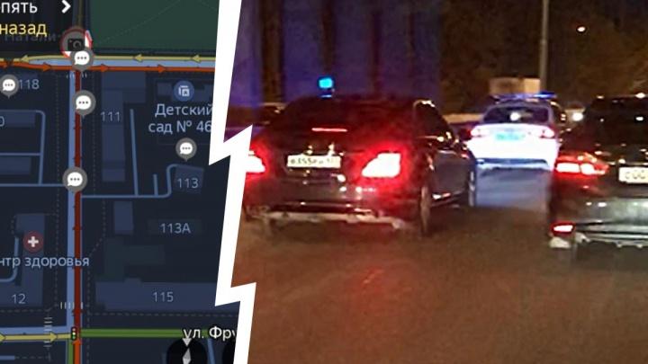 Появилось видео с кортежем, из-за которого стали закрывать мост на ЖБИ в утренний час пик