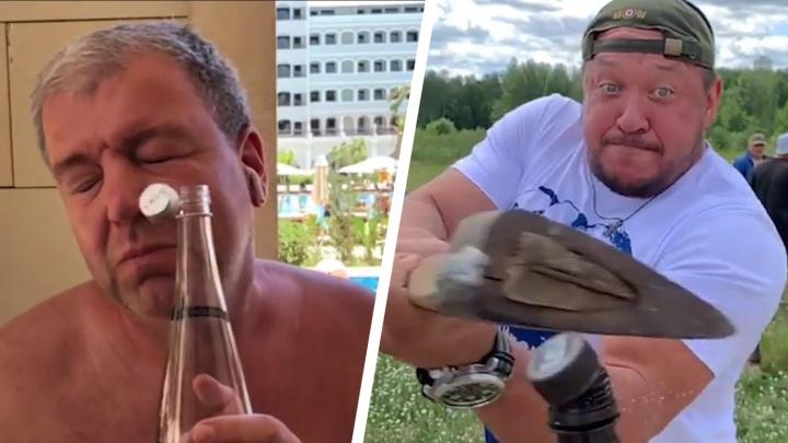 Носом, шайбой, колуном: как южноуральцы участвуют во флешмобе с бутылкой Bottle Cap Challenge