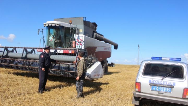 Двое на КАМАЗах украли 22 тонны пшеницы с поля и пытались сбежать от полиции