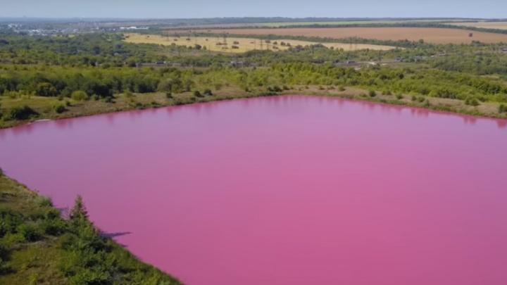 Под Самарой нашли три розовых озера