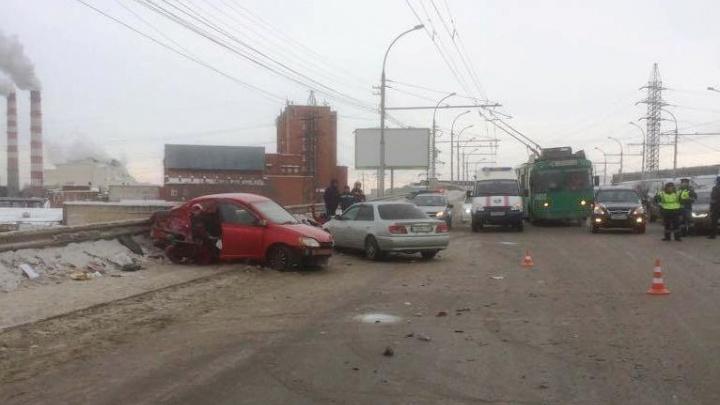 В ГИБДД рассказали о травмах 4 человек после аварии на проезде Энергетиков