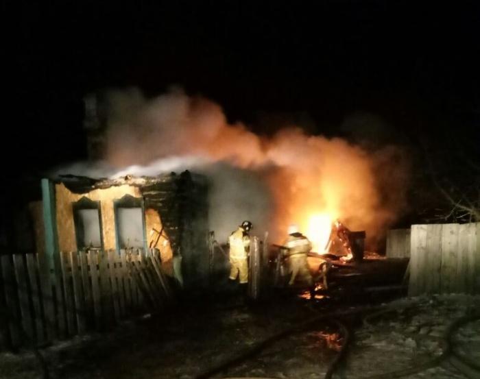Пожар начался поздно вечером 16 ноября