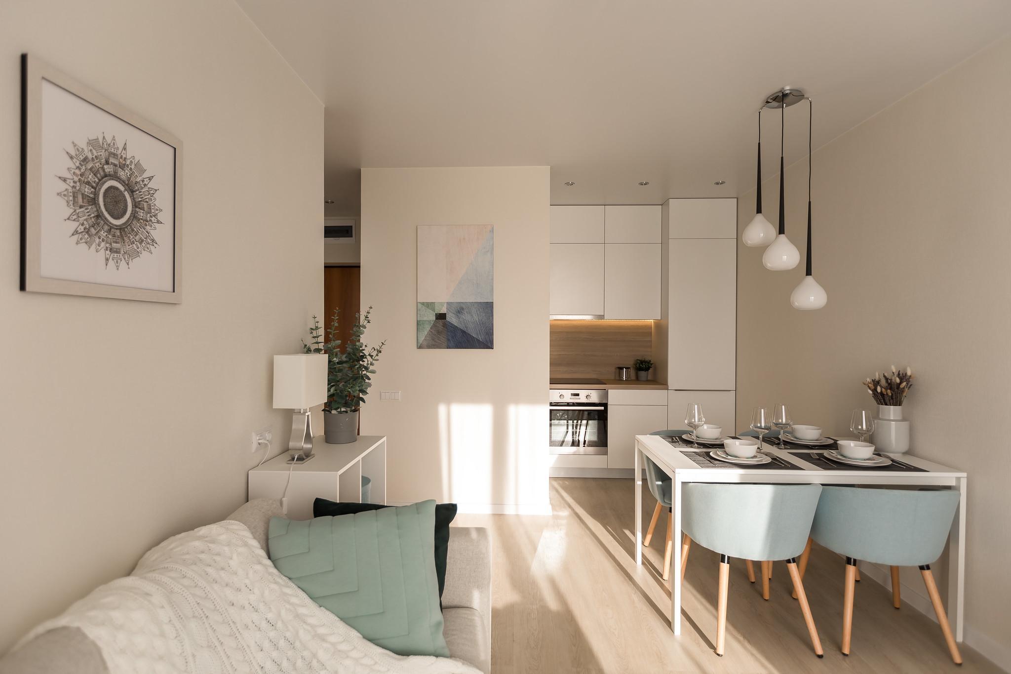 Квартира с ремонтом и мебелью в квартале «Дунаевский»