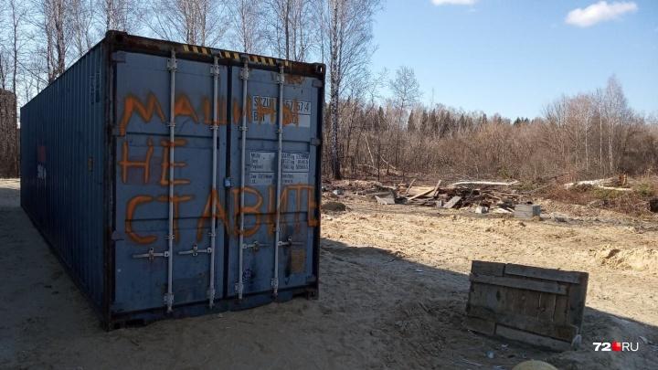 На месте 120 деревьев, вырубленных у поселка Московский, построят придорожные кафе, кулинарию и СТО